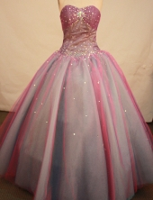 Special ball gown sweetheart-neck floor-length taffeta beading quinceanera dresses FA-X-079