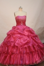 The most Popular Ball gown Strapless Floor-length Quinceanera Dresses Style FA-W-223