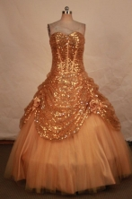 Beautiful Ball gown Sweetheart-neck Floor-length Quinceanera Dresses Style FA-W-362