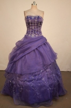 Luxurious Ball Gown Strapless Floor-Length Quinceanera Dresses Style X042423