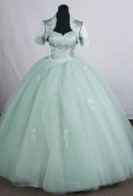 Modest Ball gown Sweetheart neck Floor-Length Apple green Quinceanera Dresses Style FA-Y-113