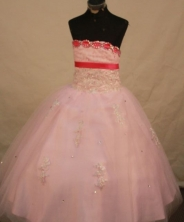Pretty Ball Gown Strapless Floor-length Quinceanera Dresses Appliques Style FA-Z-0320