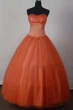Sweet Ball Gown Strapless Floor-length Organza Quinceanera Dress LJ2668
