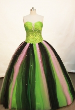 Wonderful Ball gown Strapless Floor-length Green Quinceanera Dresses Style FA-W-166