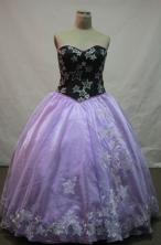 Affordable Ball Gown Sweetheart Floor-length Lavender Embroidery Quinceanera dress Style FA-L-091
