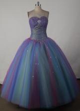 Beautiful Ball Gown Sweetheart Floor-length Quincenera Dresses TD260037
