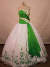 Beautiful Ball gown Sweetheart-neck Floor-length Quinceanera Dresses Style FA-C-001