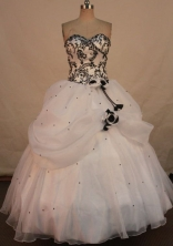 Beautiful Ball gown Sweetheart-neck Floor-length Quinceanera Dresses Style FA-W-403