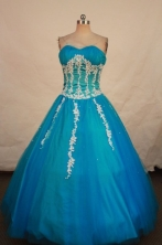 Beautiful Ball gown Sweetheart-neck Floor-length Quinceanera Dresses Style FA-W-411