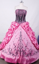Brand New Ball Gown Strapless Floor-length Embroidery Quinceanera dress Style X0424106