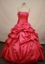 Brand new Ball gown Strapless Floor-length Quinceanera Dresses Style FA-C-011