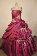Classical Ball Gown Strapless Floor-length Quinceanera dress Style X042486