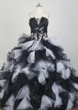 Discount Ball Gown Strapless Floor-length Hot Pink Quinceanera Dress X0426061