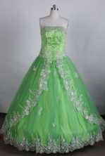 Discount Ball gown Strapless Floor-Length Quinceanera Dresses Style FA-Y-206