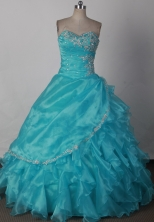 Elegant Ball Gown Strapless Floor-length Pink Quinceanera Dress LJ2618