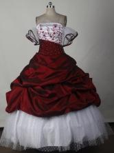 Elegant Ball Gown Strapless Floor-length Quinceanera Dress LJ2650