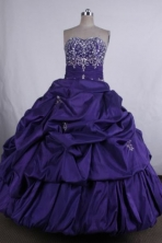 Elegant Ball gown Strapless Floor-Length Quinceanera Dresses Style FA-Y-14