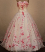 Exclusive Ball Gown Strapless Floor-Length Quinceanera Dresses TD2476