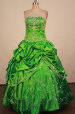 Exclusive Ball Gown Strapless Floor-Lengtrh Quinceanera Dresses Style X042442