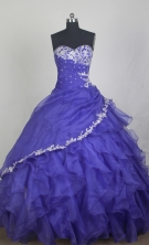 Exclusive Ball Gown Sweetheart Neck Floor-length Blue Quinceanera Dress LZ426029
