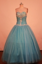 Exquisite Ball Gown Sweetheart Neck Floor-Lengtrh Quinceanera Dresses Style X0424102