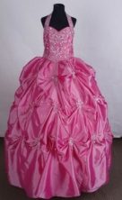 Exquisite Ball gown Halter top neck Floor-Length Quinceanera Dresses Style FA-Y-108