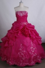 Exquisite Ball gown Strapless Floor-Length Quinceanera Dresses Style FA-Y-104