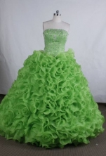 Exquisite Ball gown Strapless Floor-Length Quinceanera Dresses Style FA-Y-12