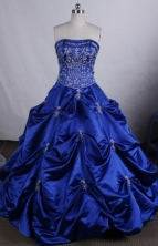 Exquisite Ball gown Strapless Floor-Length Quinceanera Dresses Style FA-Y-98