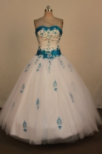 Fashionable Ball Gown Strapless Floor-Length Hot Pink Beading and Applqiues Quinceanera Dresses Style FA-S-308