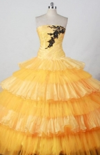 Fashionable Ball gown Strapless Floor-Length Quinceanera Dresses Style FA-Y-04
