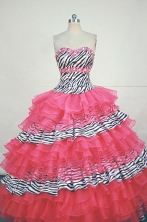 Formal Ball gown Sweetheart neck Floor-Length Quinceanera Dresses Style FA-Y-33