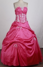 Gorgeous Ball Gown Straplesss Floor-length Quinceanera Dress ZQ12426050