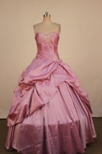 Gorgeous Ball Gown Sweetheart Neck Floor-Length Light Pink Beading Quinceanera Dresses Style FA-S-28