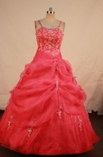 Gorgeous Ball gown Strap Floor-length Quinceanera Dresses Style FA-W-357