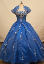 Gorgeous Ball gown Sweetheart-neck Floor-length Quinceanera Dresses Style FA-C-019