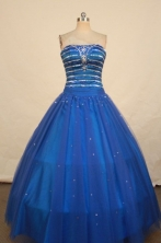 Inexpensive Ball gown Strapless Floor-Length Quinceanera Dresses Style FA-Y-35