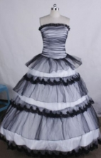 Inexpensive Ball gown Strapless Floor-Length Quinceanera Dresses Style FA-Y-64