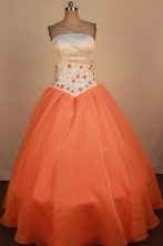 Lovely Ball Gown Strapless Floor-Length Quinceanera Dresses Style X042497