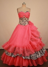 Luxurious Ball Gown Sweetheart Neck Floor-Lengtrh Light Quinceanera Dresses Style LJ042436