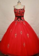 Modest Ball gown Strap Floor-length Quinceanera Dresses Style FA-C-023