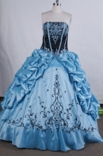 Modest Ball gown Strapless Floor-Length Quinceanera Dresses Style FA-Y-19