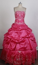 Perfect Ball Gown Strapless Floor-length Quinceanera Dress ZQ12426024