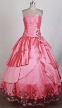 Perfect Ball Gown Sweetheart Floor-length Quinceanera Dress ZQ12426031