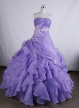 Perfect Ball gown Strapless Floor-Length Quinceanera Dresses Style FA-Y-26