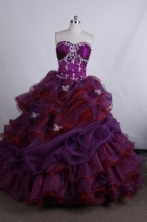 Perfect Ball gown Sweetheart neck Floor-Length Quinceanera Dresses Style FA-Y-24