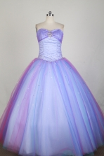Popular Ball Gown Strapless Floor-length Lilac Quinceanera Dress X0426055