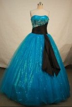 Popular Ball gown Strapless Floor-length Quinceanera Dresses Style FA-C-017