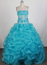 Pretty Ball Gown Strapless Floor-length Quinceanera Dress ZQ12426063