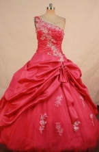 Pretty Ball gown One shoulder neck Floor-length Quinceanera Dresses Style FA-W-391